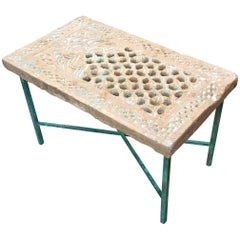 Architectural Element Brass Table