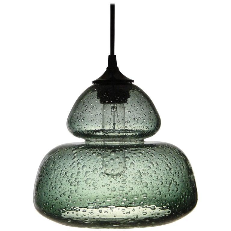 Groove Series Socket Pendant, Modern Handmade Glass Lighting  For Sale