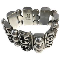Vintage 1940s Sterling Silver Bracelet by Victoria