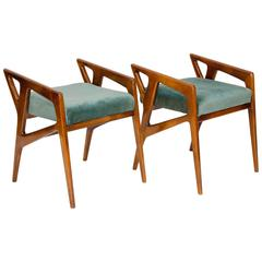 Rare Pair of Arm Stools by Gio Ponti