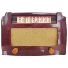 Art Deco Dewald Art Deco Catalin Red Step Top Radio