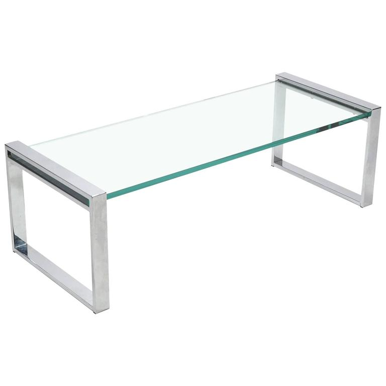 Cy Mann Chrome and Glass Coffee Table 1