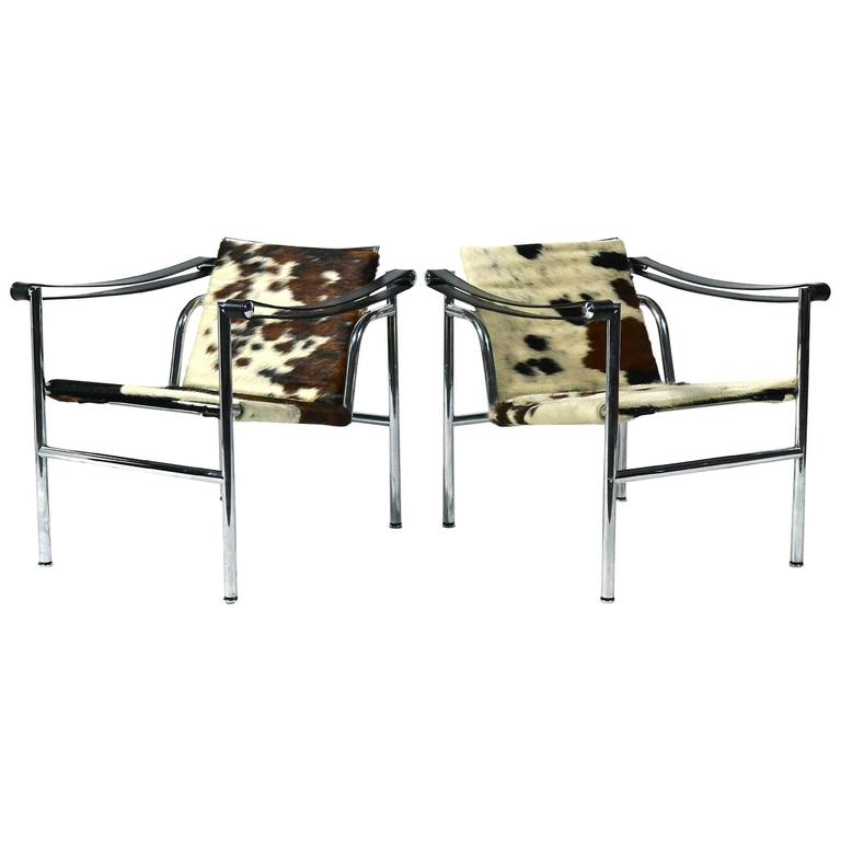 Le Corbusier LC1 Lounge Chairs by Cassina 1