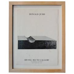 Donald Judd 1968 Irving Blum Gallery Exhibition Poster