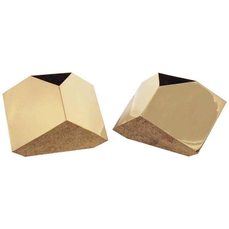 Geometric brassvases, ca. 1970s