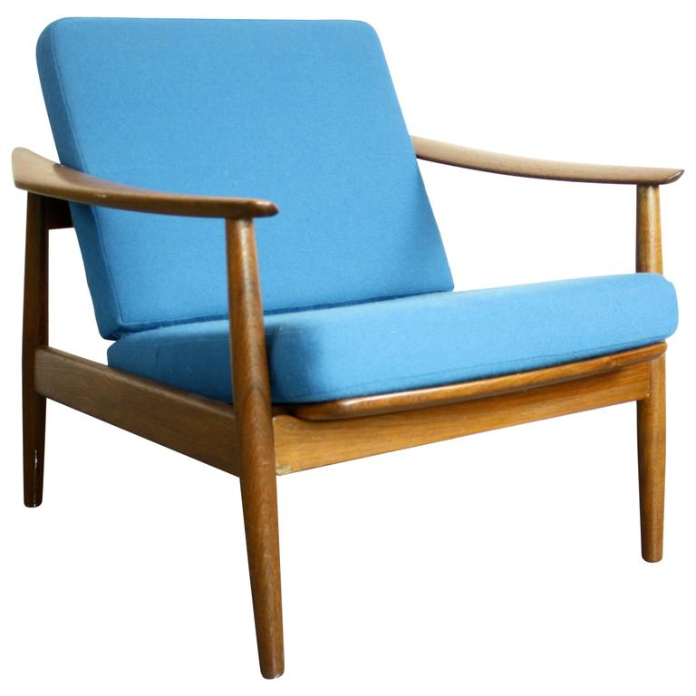 lounge chair and ottoman by arne vodder for sale at 1stdibs