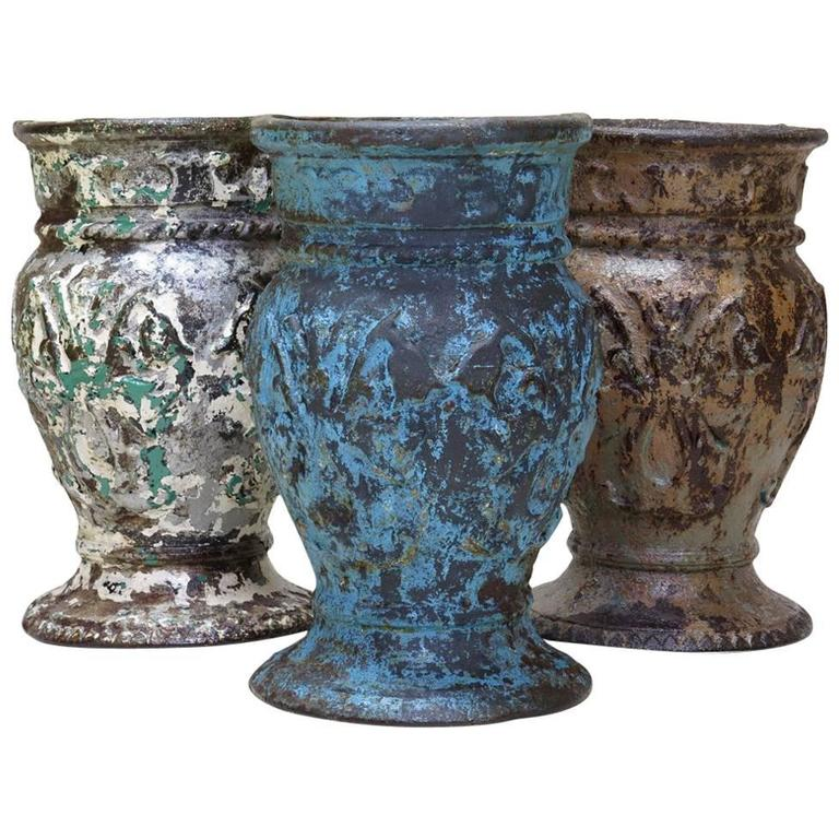 Set of Three Cast-Iron Planters from a St Petersburg Winter Garden, circa 1930s