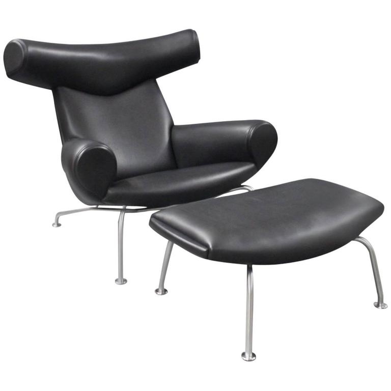 ox chair model ej 100 by hans j wegner and erik. Black Bedroom Furniture Sets. Home Design Ideas