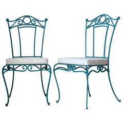Set of Six French, 1940s Style Iron Chairs