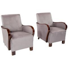 Good Pair of Art Deco Armchairs