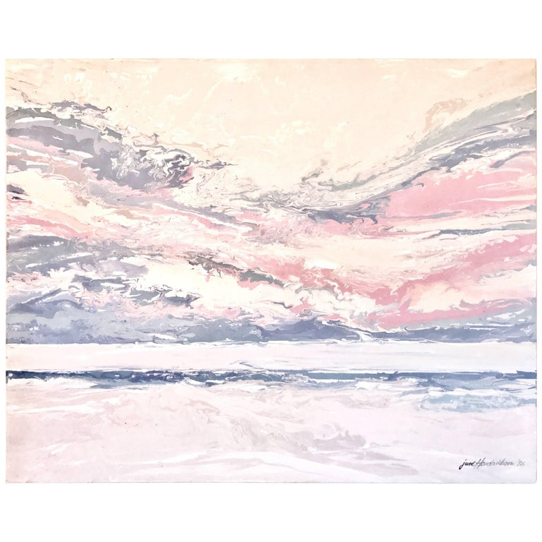 June Hendrickson Oil Painting, USA For Sale
