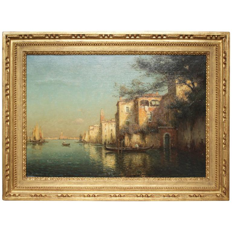Gondoles on a Venice Canal by G.N. Bouvard 1