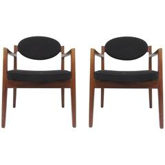 Pair of Mid-Century Modern Armchairs by Jens Risom