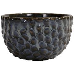 Axel Salto Bowl in Budded Style and Butterfly Wing Glaze for Royal Copenhagen
