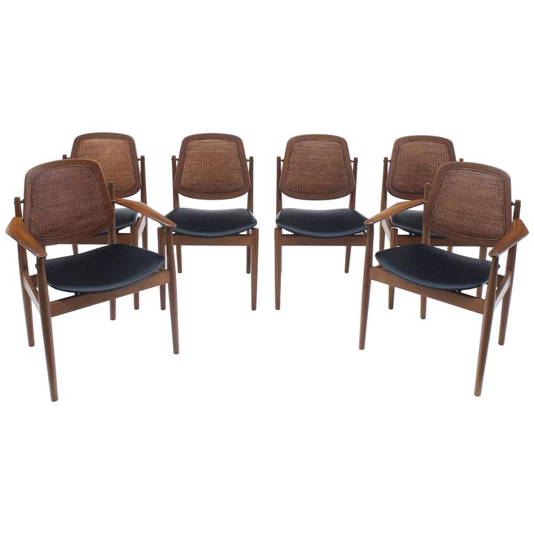 Danish Modern Arne Vodder Set of Six Dining Chairs with