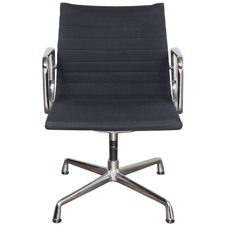 Vintage eames office chair ea108 in chrome by vitra at 1stdibs - Eames office chair original ...