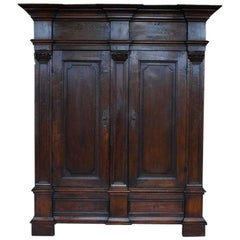 19th Century Oakwood German Cabinet or Wardrobe