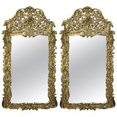Pair of Very Large 19th Century Baroque Mirrors