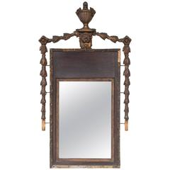 Tuscan Gilded Bronze and Wood Mirror
