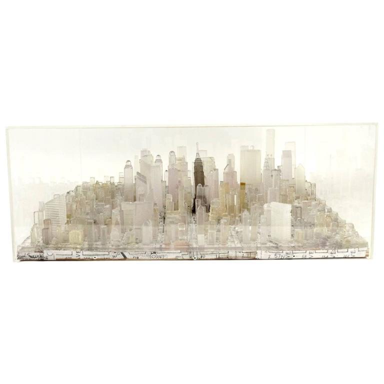 Transparent Resin Sculpture by Greek Artist G. Lagos. Manhattan, 2016