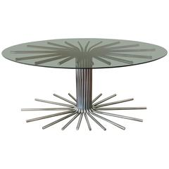 1950s Italian Fume' Glass Top Dining Table in the manner Gastone Rinaldi