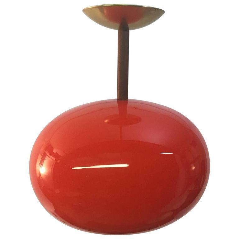 Holmegaard Glass Pendant Orb Light Fixture