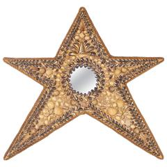 Star Shaped Shell Inlaid Wall Mirror