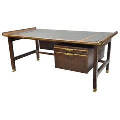 "Ib Kofod Larsen Selig Megiddo ""Queen of Sheba"" African Wenge Wood Executive Desk"