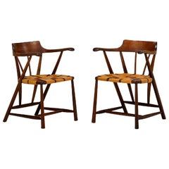 Rare Pair of Walnut Captain Chair by Wharton Esherick