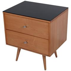 Paul McCobb Two-Drawer on Bench with Black Vitrolite Top