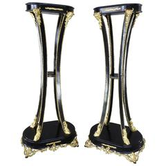 19th Century, Goat Feet Pedestals