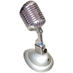 Shure Model 55 Studio Microphone W Correct Desk Stand, As Sculpture. ON SALE