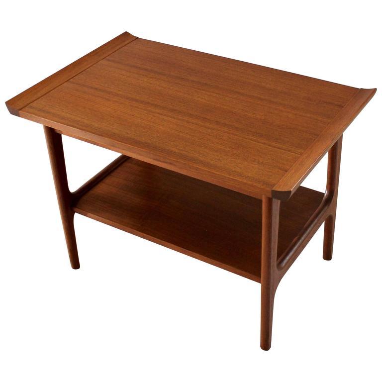1960s Japanese Modern Teak Side Table In The Style Of Finn Juhl 1