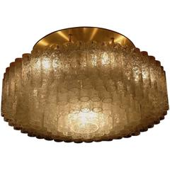 Huge Flush Mount Light Fixture by Doria Leuchten, Germany