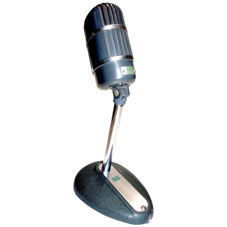 Altec Model 670-B Ribbon Studio Microphone with Rare Stand, Circa 1950s. ON SALE