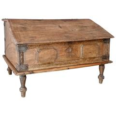 19th Century Spanish Childrens Lift Top Writing Desk