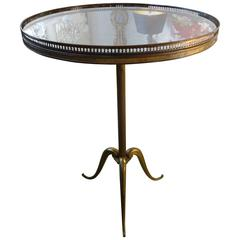 French Bronze Tripod Gueridon Inspired by Jacques Adnet, Circa. 1940