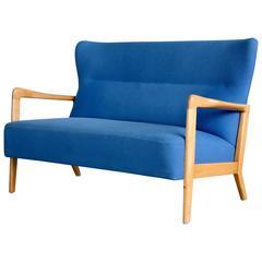 Soren Hansen Open Arm Love Seat for Fritz Hansen Danish Mid-Century