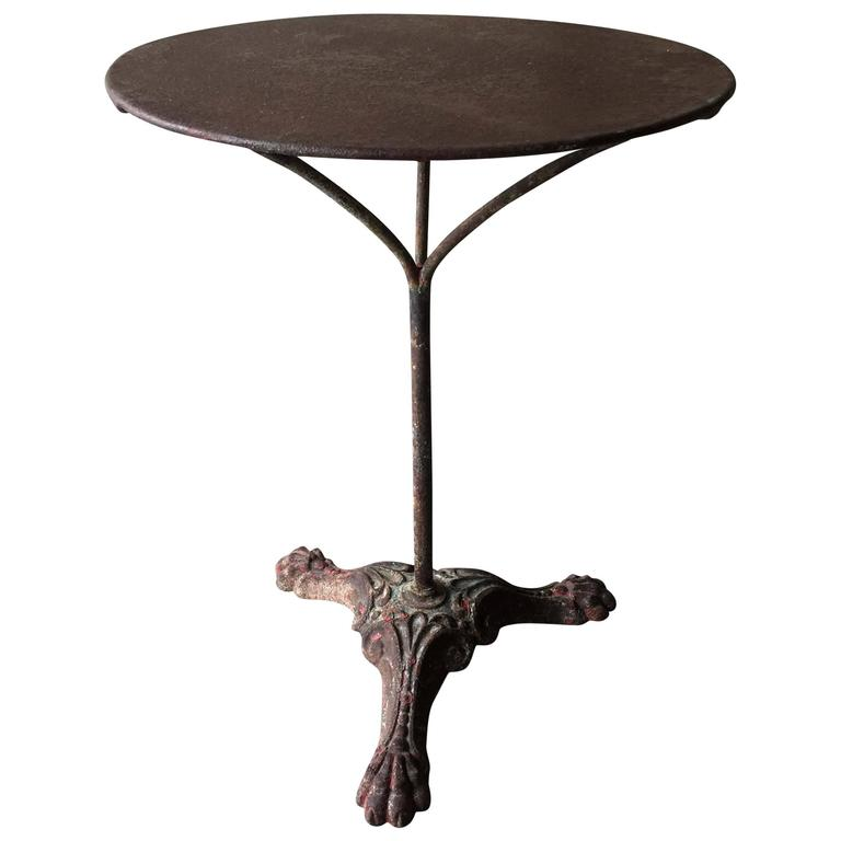 Antique French Garden Bistro Table For Sale At 1stdibs