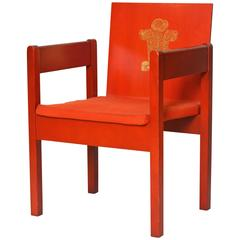 Rare Mid-Century Prince Charles Investiture Chair Designed by Lord Snowdon, 1969