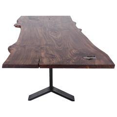 Elm Slab Dining Table by Uhuru Design