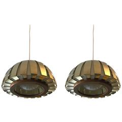 Pair of 1960s Danish Lyfa Modern Pendants