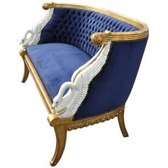 Empire Style Swan Settee After a Design by Jacob-Desmalter