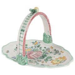 Italian Pottery Tray with Floral Decoration from the Estate of Bunny Mellon