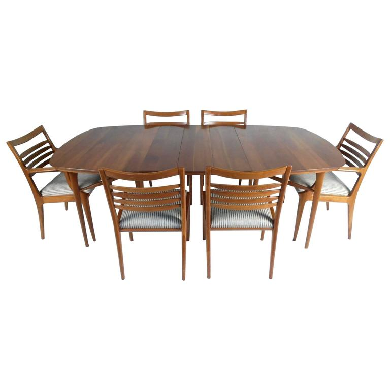 Stylish Contemporary Modern Cherrywood Dining Set For Sale