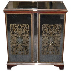 1950s Art Deco Style Mirrored Two Door Music Cabinet