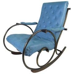Mid-Century Modern Sculptural Rocking Chair by Lee Woodard