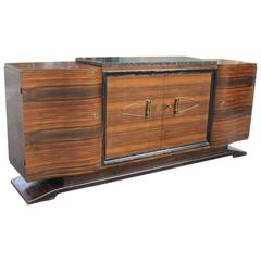 Masterpiece Art Deco Sideboard or Buffet Exotic Macassar Ebony by Maurice Rinck