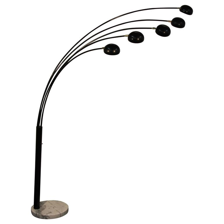 Five Head Black Spider Arc Lamp For Sale at 1stdibs - photo#29