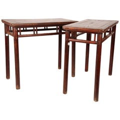 Chinese Wine Tables with Stretcher